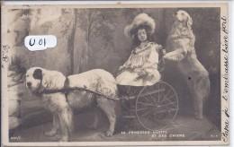 VOITURE A CHIENS- LA PRINCESSE LILETTE ET SES CHIENS- EXPEDIEE DE TROYES - Postcards