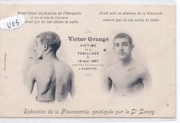 NARBONNE-- VICTOR GRANGE- VICTIME DE LA FUSILLADE DU 19/06/1907-OPERE PAR DR DENOY - Narbonne