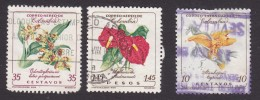 Colombia, Scott #C361, C363, C365, Used, Flowers, Issued 1960 - Colombia