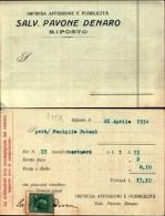 935k) Cartolina Di  Riposto-impresa Affissione E Pubblicità-salv Pavone Denaro - Catania