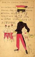 Caricature Illustrée Couleur Avis Au Peuple Japonais ,,,Général OKU Carte Précurseur - Satiriques