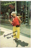 REF 257  : CPSM  Greetings From New York City Homeless Clown Injure - Etats-Unis