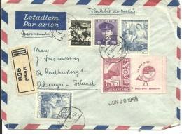 LETTER 1948 RERISTERED  MIMON   SCANER - Cartas