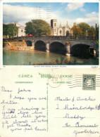 Salmon Weir Bridge, Galway City, Ireland Postcard Posted 1961 Stamp - Galway