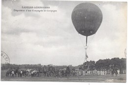 BALLON - SAPEURS-AEROSTIERS - Disposition D'une Compagnie En Campagne - Montgolfières