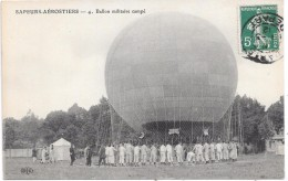 BALLON - SAPEURS-AEROSTIERS - Ballon Militaire Campé - Globos
