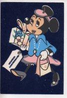 REF 255  : CPSM DISNEY Carte En Velour Minie Mini Minnie Anniversaire - Disney