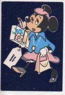REF 255  : CPSM DISNEY Carte En Velour Minie Mini Minnie Fete - Disney