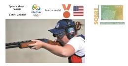 Spain 2016 - Olympic Games Rio 2016 -  Bronze Medal Sport´s Shoot Female U.S.A. Cover - Otros