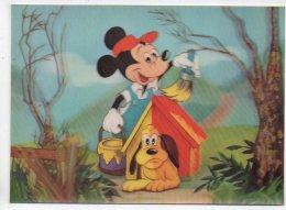 REF 256  : CPSM DISNEY WALT Carte En Relief 3D Mickey & Pluto - Disney