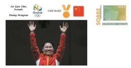 Spain 2016 - Olympic Games Rio 2016 -  Gold Medal Air Gun 10m. Female China Cover - Juegos Olímpicos