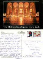 Metropolitan Opera, New York City NYC, New York, United States US Postcard Posted 2001 Stamp - New York City