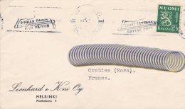 L4F037 FINLANDE  Lettre Helsinki Pour Orchies France 2 1/2 - Cartas