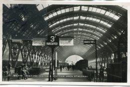 - Milano - 62 - Milano - Stazione Centrale, Tettoie ( Arch Stacchini ), Non écrite, Glacée, Petit Format, TBE, Scans.. - Milano (Mailand)