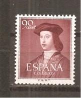 España/Spain-(MNH/**) - Edifil  1108 - Yvert 828 - 1951-60 Nuevos & Fijasellos