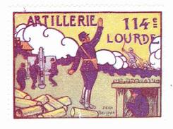 Vignette Militaire Delandre - 114ème Régiment D'artillerie Lourde - Erinnophilie