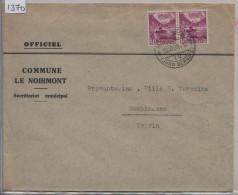 1939 Landschaftsbilder 203Ay - Stempel: Noirmont (Jura Bernois) + Banco (Ticino) - Commune Le Noirmont - Brieven En Documenten