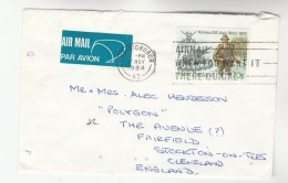 1984 Air Mail NEW ZEALAND COVER 70c  Stamps KOREA WAR ARMY LION  To GB Airmail Label - New Zealand