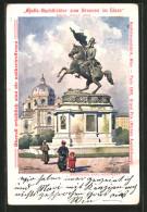 Künstler-AK Wien, Erzherzog Karl-Monument - Wien