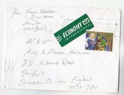 2000 NEW ZEALAND COVER 80C Stamps CHRISTMAS DONKEY To GB  Economy International Label - New Zealand