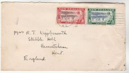 1948 NEW ZEALAND HEALTH Stamps COVER To GB - Covers & Documents