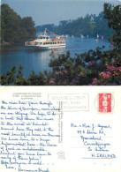 Odet River Boat, Bretagne, France Postcard Posted 1991 Stamp - Francia