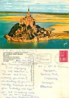 Le Mont Saint-Michel, Manche, France Postcard Posted 1977 Stamp - Le Mont Saint Michel