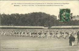 RENNES - 40è Fête De Gymnastique...31 Mai 1er Juin 1914 - Les Mouvements D'ensemble Au Champs De Mars..... - Rennes