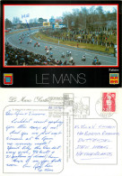 Motorcycle Race, Le Mans, Sarthe, France Postcard Posted 1990 Stamp - Le Mans