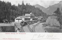BRÜNIGBAHN → Station Brünig Mit Restaurant Und Regem Zugverkehr 1903 - BE Berne