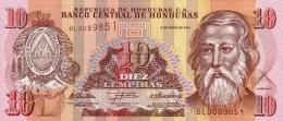HONDURAS 10 LEMPIRAS 2010 P-86e UNC  [ HN86e ] - Honduras