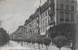 LUZERN → Hotel Beau-Rivage Anno 1913 ►mit Feldpoststempel Bataillon No.41◄ - LU Lucerne