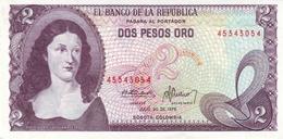COLOMBIA 2 PESOS 1976 P-413b UNC [CO413b] - Colombia