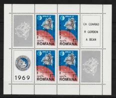 1969 - APOLLO 12  Mi No Bl 74 Et Yv No 72 MNH - 1948-.... Républiques