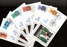 """FRANCE 2004 : 6 Enveloppes 1er Jour En Soie N° YT 3679 à 3684 """" NAPOLEON ET LA GARDE IMPERIALE """" En Parf état ! FDC"""