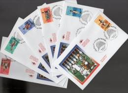 """FRANCE 2004 : 6 Enveloppes 1er Jour N° YT 3679 à 3684 """" NAPOLEON ET LA GARDE IMPERIALE """" En Parf état ! FDC"""
