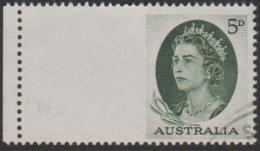 AUSTRALIA - USED 1963 5d Queen Elizabeth II, Booklet Imperf At Left - Gebraucht
