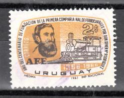 Train, Eisenbahn, Locomotive, Railway: Uruguay 1967 Mi Nr 1096 - Eisenbahnen