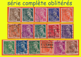 N° 404 à 416A TYPE MERCURE 1938 - SÉRIE COMPLÈTE OBLITÉRÉS - - 1938-42 Mercure