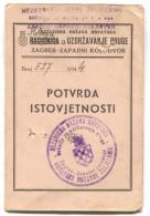 CROATIA, NDH Period, WW2, 1944. - Federal Railway, Bundesbahn, Booklet - Historische Dokumente