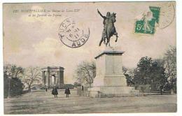 MONTPELLIER STATUE DE LOUIS XIV ET LES JARDISN DU PEYROU - Montpellier