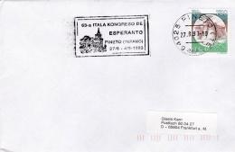 Italy Cover P/m Pineto 1993 63-a Itala Kongreso De Esperanto (SKO10-40) - 1946-.. Republiek