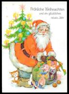 5578 - Alte Glückwunschkarte - Weihnachten - Weihnachtsmann Geschenke - GF - Santa Claus