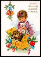 5589 - Alte Glückwunschkarte - Weihnachten - Kind Mit Geschenke - Weihnachten
