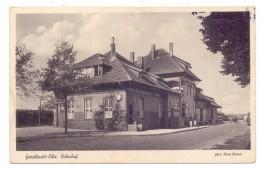 2054 GEESTHACHT, Bahnhof, Nadelloch, Rücks. Berieben - Geesthacht