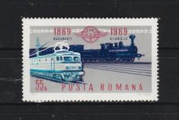 1969 - Centenaire Des Chemins De Fer Yv No 2496 Et Mi No  2803 MNH - 1948-.... Republiken