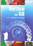 FOLDER VERTICE DEI G8 SUMMIT 2009 DA LA MADDALENA A L´AQUILA - 6. 1946-.. Republic