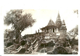 Cambodge. Phnom Penh. Temple De Wat Phnom, Le Pnom à L´escalier. - Cambogia