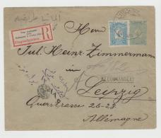 Tur110 / Tughra Brief-Ganzsache, Einschreiben 1912 Per Bahnpot 5 Odbg-Breslau Per Bahnpost Nach Leipzig - Covers & Documents