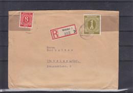 Allemagne - Occupation Alliés - Zone Soviétique - Lettre Recommandée De 1947 ° - Oblitération Wetzlar - Valeur 15 € - Zone Soviétique